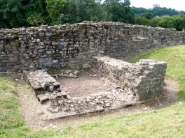 Caerleon walls corner tower