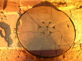 Caerleon legionary baths drain cover