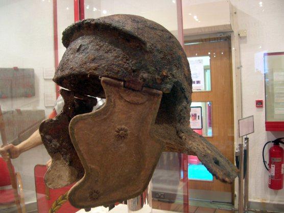 Caerleon museum - legionary helmet