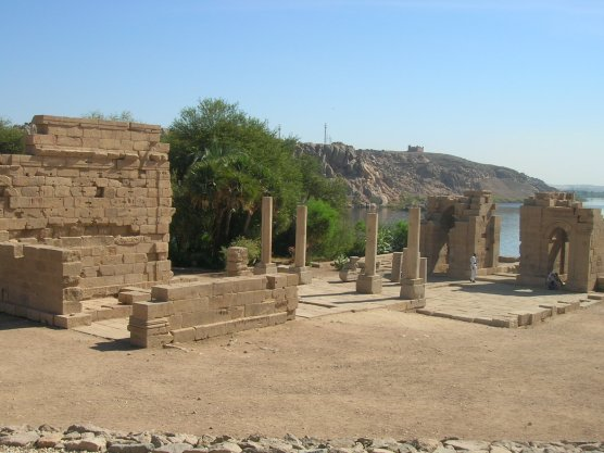 The temple of Augustus and arch of Diocletian at Philae