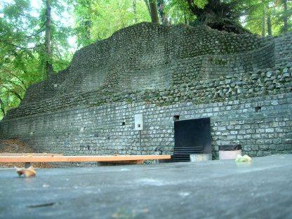Augst amphitheatre stonework