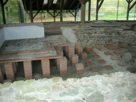 Bern baths hypocaust