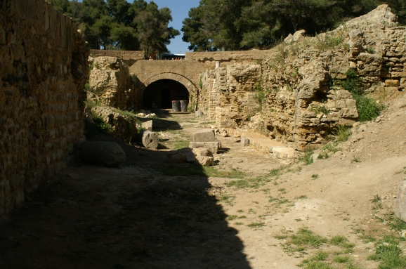 Carthage amphitheatre tunnels