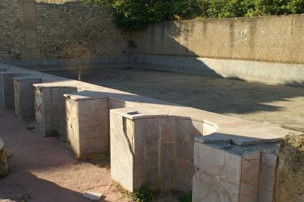 Pool in a house at Carthage