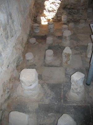 Masada bathhouse hypocaust floor